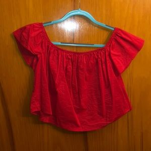 Red forever 21 top